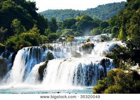 Wonderful Waterfalls of Krka Sibenik, Croatia