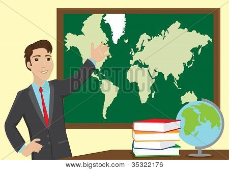 Young Geography Teacher