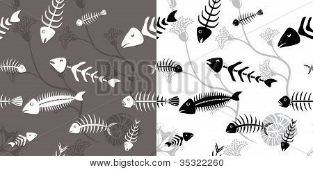 Fish skeleton seamless