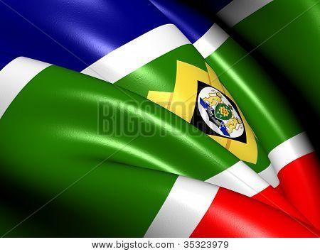Flag Of Johannesburg, South Africa.