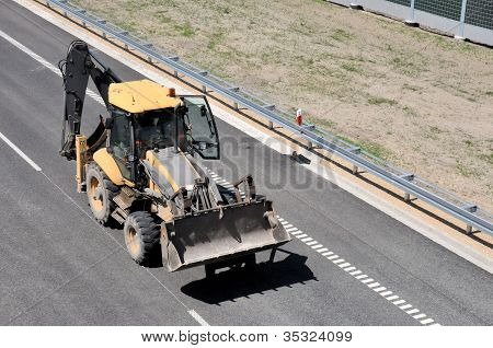 Digger On The Road