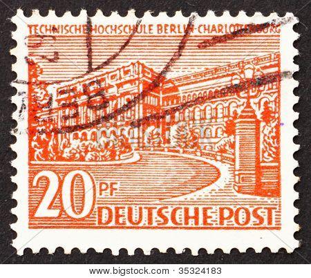 Postage stamp Germany 1949 Polytechnic College, Charlottenburg,