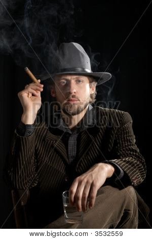 A Man In Grey Hat