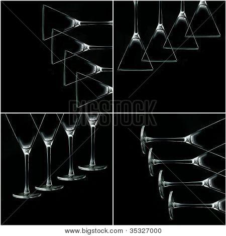 Martini Glass Collage