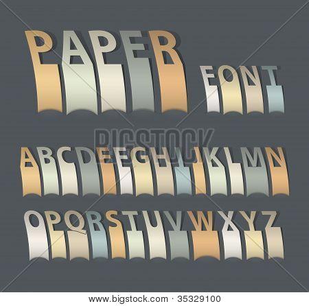 Vintage Attach Creative Paper Font.