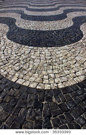 Portuguese calçada, Lisbon, Portugal