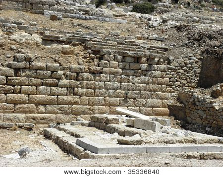 Fundament of the temple of Apollo in Knidos.