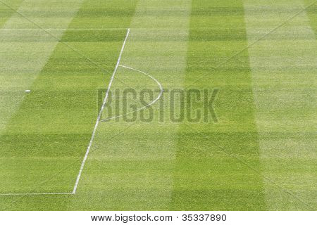 Green soccer / football field