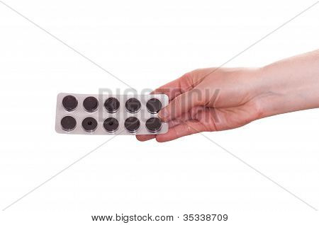 Female Hand With Pills