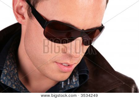 Close-Up Portrait Of Man In Sunglasses