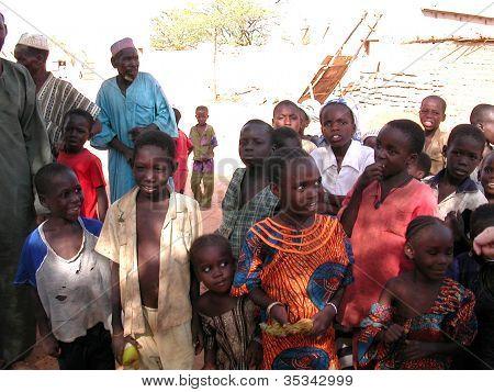 Children at Kara Kara village