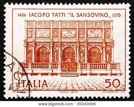 Postage stamp Italy 1970 Loggia of St, Mark's Campanile, Venice