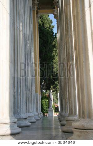 Pillars And Statue