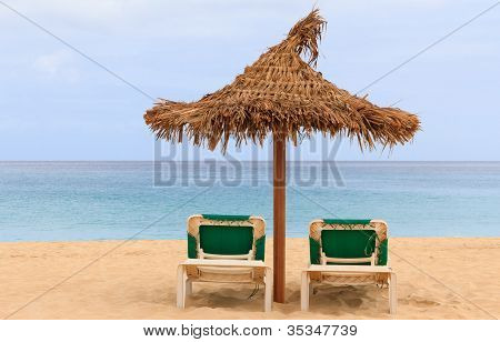 Palapa Sun Roof Beach Umbrella In Cape Verde