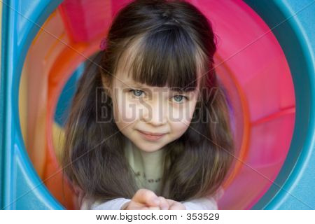 Girl In Tunnel