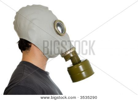 Man In Gas Mask Profile