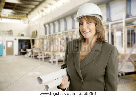 Female Engineer In Factory
