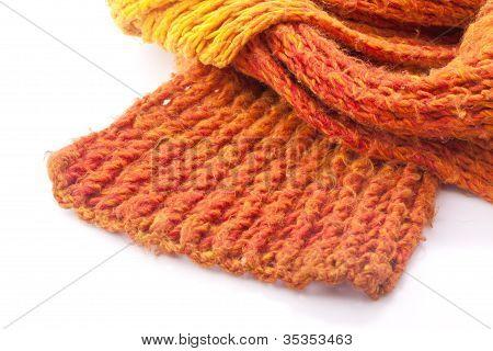 orange wool scarf