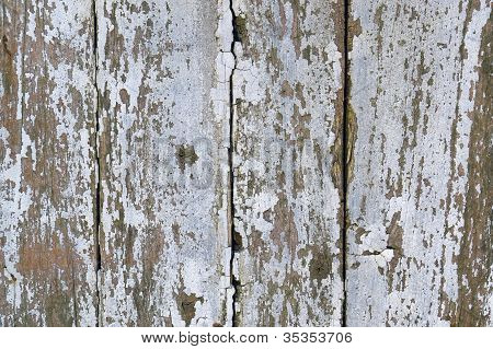 Rundown Wooden Facade Detail