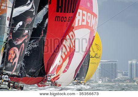 Puma, Camper And Abu Dhabi Downwind Off Miami Beach