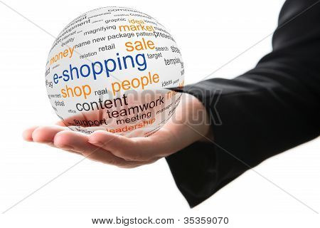 Konzept der Internet-shopping