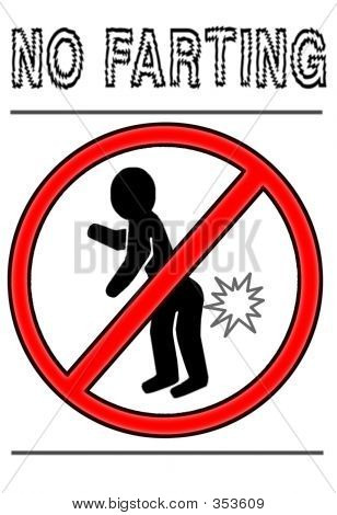 No Farting Warning Sign