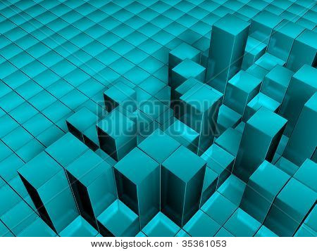 3d illustration cube