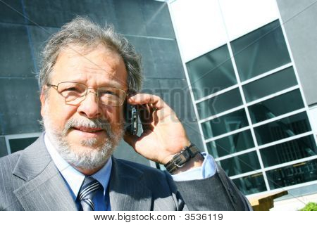 Senior Business Man On Phone