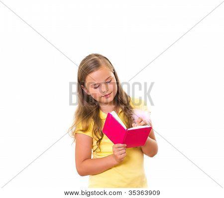 Girl Writing.