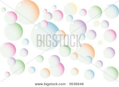Vector Illustration Of Many Bubbles