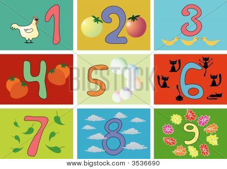 Numbers With Pictures For Children Education