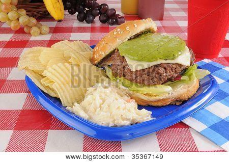 Hamburger With Guacomole