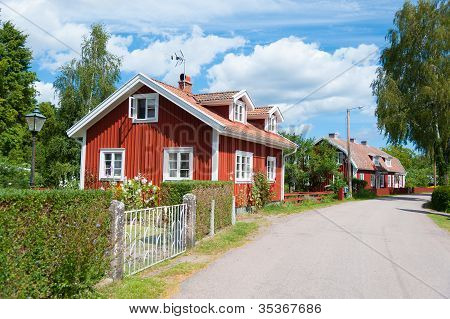 Mainstreet in Pataholm, Sweden