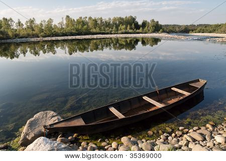 Pirogue On A River