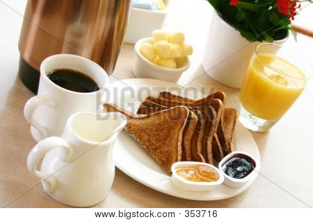 Breakfast Series - Toast, Coffee And Juice