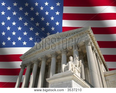 Supreme Court With Flag