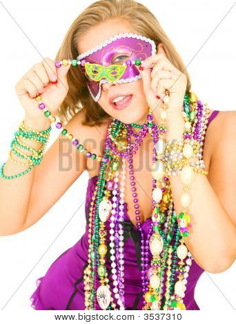 Close Up Mardi Gras Girl