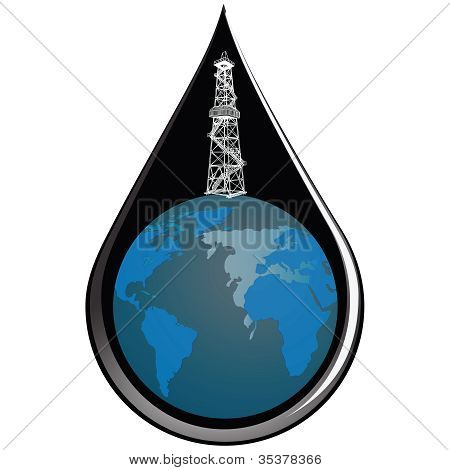 Globe And Drop Oil