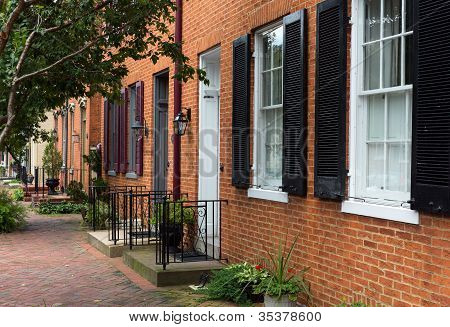 Street Scene In Frederick Maryland