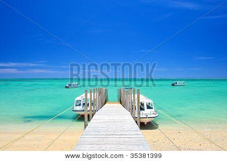 Okinawa Mibaru Beach under Sunshine