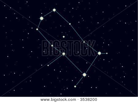 Vector Illustration Of Constellation