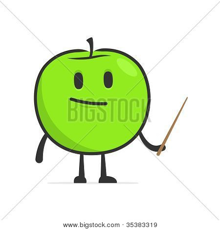 lustige Cartoon-Apfel