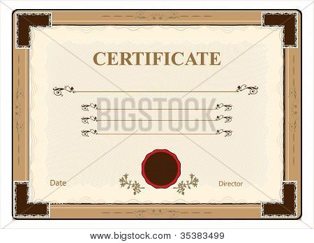 Vector illustration certificate