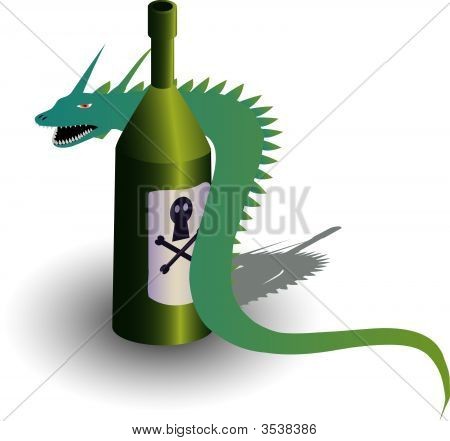 Illustration Of Evil Snake With Poison