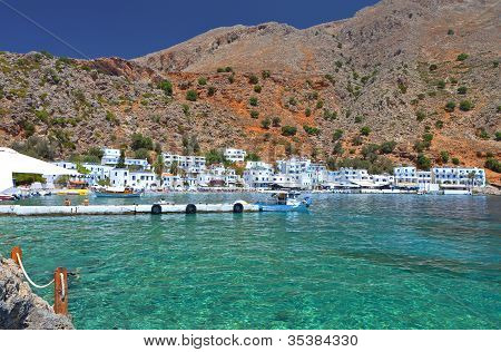 Fishing village at Crete island