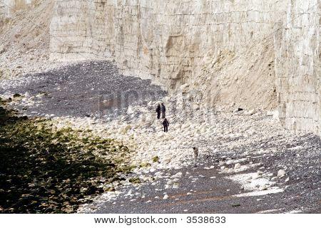Landslide From Seven Sisters, East Sussex