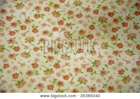 Roses on white background fabric