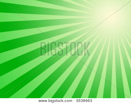 Green Sun Background