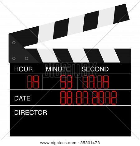 Open digital movie clapboard