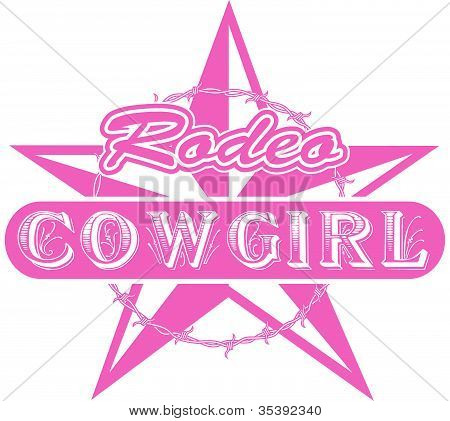 Rodeo Cowgirl Western Sign